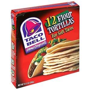 Taco Bell Flour Tortillas, 12-Count Tortillas (Pack of 6