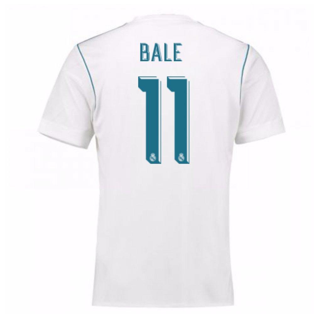2017-18 Real Madrid Home Shirt (Bale 11) B077YQZBD5White Large 42-44\