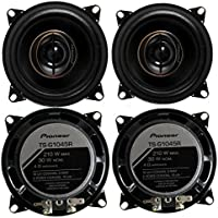 4) Pioneer 4 Inch 250 Watt G Series Car Coaxial Stereo Speakers | TS-G1045R