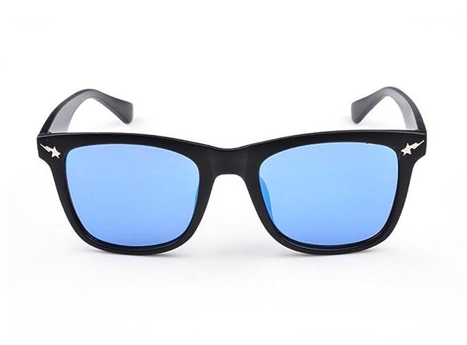 ZHLONG Mâle et femelle plat enduit lunettes de soleil carrées , 4