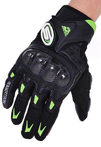 Seibertron M10 SMX-2 Air Carbon Fiber Riding Gloves Motorcycle Gloves Black/Green M