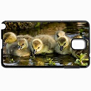Customized Cellphone Case Back Cover For Samsung Galaxy Note 3, Protective Hardshell Case Personalized Goslings Kids Water The Chicks Black