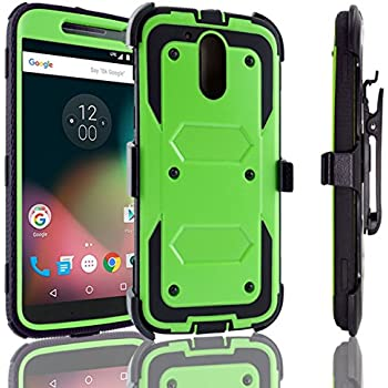 Moto G4 / Moto G4 Plus Case, Customerfirst, Rugged Impact Armor Hybrid Kickstand Cover with Belt Clip Holster Case for Moto G4 / Moto G4 Plus + emoji ...