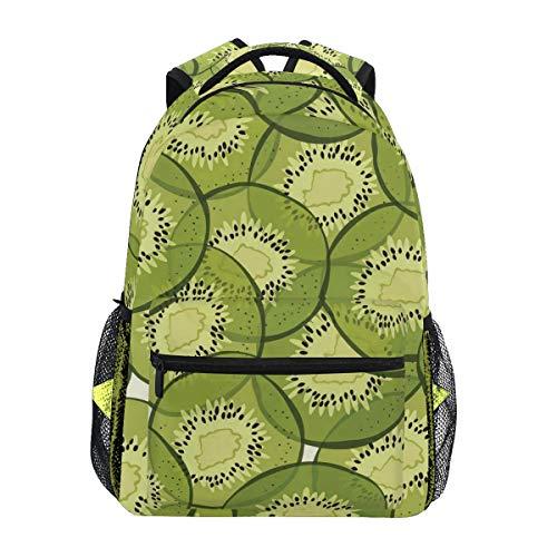 Women/Man Canvas Backpack Special Green Kiwi Fruit Zipper College School Bookbag Daypack Travel Rucksack Gym Bag For Youth (Laptop Laurex Backpack)