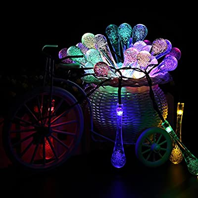 Solar Outdoor String Lights,URPOWER® 20ft 30 LED Water Drop Solar String Fairy Waterproof Lights Christmas Lights Solar Powered String lights for Garden, Patio, Yard, Home, Christmas Tree, Parties