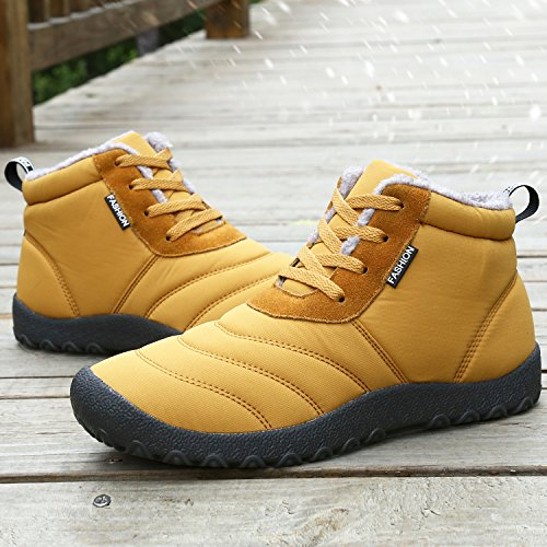 Dreamcity Womens Winter Snow Boots Waterproof Insulated Outdoor Shoes Yellow uufgLDGmu