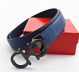 Amazon.com : Ferragamo Adjustable Belt Blue : Sports ...