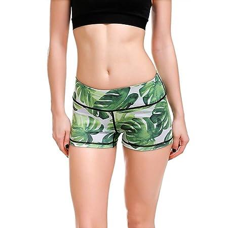 Mujer Mallas Shorts de Yoga, Plantas verdes verdes de la ...