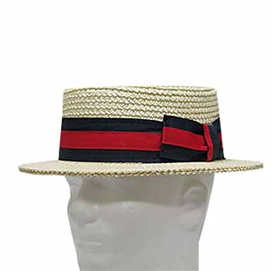 eb3e164a5d838 Classic Boater Bleach Skimmer Straw Hat Men s at Amazon Men s Clothing  store