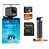 GoPro Hero7 Silver Bundle with Float Handle, Sandisk U3 32GB and 8GB MicroSDHC Memory Card