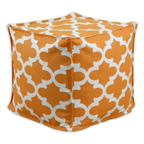 Brite Ideas Living & Company Fynn Cinnamon Macon Square Seamed Pellet Hassock, 17-Inch by Brite Ideas Living