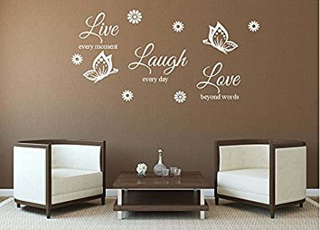 Muro sticker vivente live every moment laugh every day love beyond