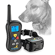 Dog Training Collar By VINZOO - TPU Shock Collar For Dogs With Remote- Rechargeable Dog Collar With 3 Modes: Beep, Vibration, Shock, 16 Different Levels- Waterproof Collar For Small & Large Dogs