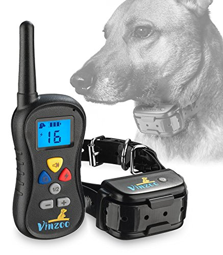 Dog Training Collar By VINZOO - Waterproof Shock Collar For Dogs With (Lap Dog Remote Trainer)