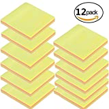 Gbell 7.5 x 7.5 CM Post It Note Books,Rainbow Color,12 Packs Creative Memo Paper School Office Supplies Gift (A)