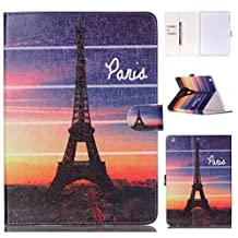 Apple iPad Air Folio Case,Gift_Source Brand [Eiffel Tower] [Magnetic Closure] Slim Fit Leather Fashion Flip Stand Card Slot Wallet Case Cover for Apple iPad Air (iPad 5th Generation)