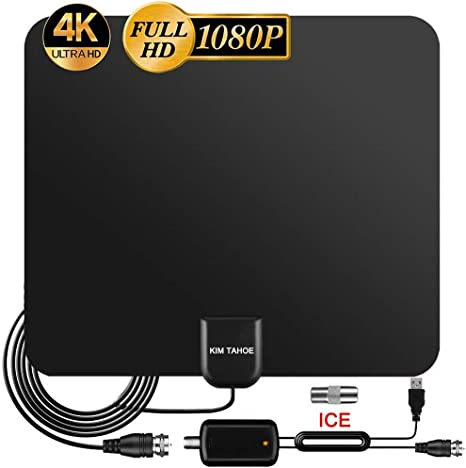 Amplified HD Digital TV Antenna 80-120 Miles Long-Range Reception Support 4K 1080p Indoor TV Digital HD Antenna Freeview Life Local Channels All Type Television Switch Amplifier Signal Booster 2020