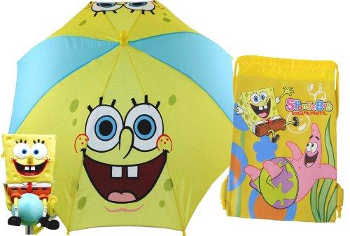 Fun Spongebob Umbrella and Drawstring Bag for Kids