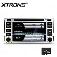 XTRONS 6.2 HD Digital Touch Screen GPS Navigation Car Stereo Radio DVD Player with Screen Mirroring Function for Hyundai Santa Fe 2006-2012 Kudos Map Card Included