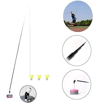 DirkFigge Single Badminton Trainer Device Rebound Exercise Training Auxiliary Equipment Portable Badminton Trainer