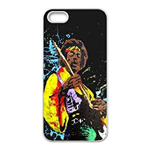 Jimi Hendrix Jamming iPhone 5 5s Cell Phone Case White phone component AU_500636