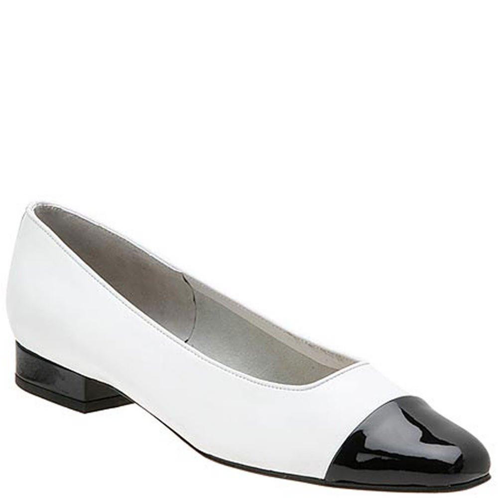 VANELi Women's FC-313 Flat B0002GN9YG 8 B(M) US|White-black