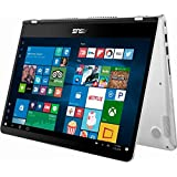 2018 Flagship Premium ASUS 14 2-in-1 FHD IPS Touchscreen Business Laptop/Tablet Intel Quad-Core i5-8250U 8GB DDR4 Backlit Keyboard Fingerprint Reader Windows Ink USB Type-C Win 10- Upgrade to 1TB SSD
