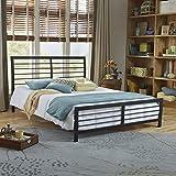 Boyd Sleep Aria Metal Platform Bed Frame/Mattress Foundation with Headboard and Footboard, Full