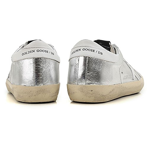 C16 SuperStar Goose Sneakers Fashion Silver Cwrinkled EU35 Leather G30WS590 Golden Womens zHwq116
