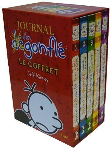 Journal D'un Dégonflé Tomes 1 A 5 : Carnet De Bord De Greg ; Rodrick Fait Sa Loi ; Trop C'est Trop ; Ca Fait Suer ; La Vérité Toute Moche  Diary Of A ... 1-5 : Boxed Gift Set  French Edition