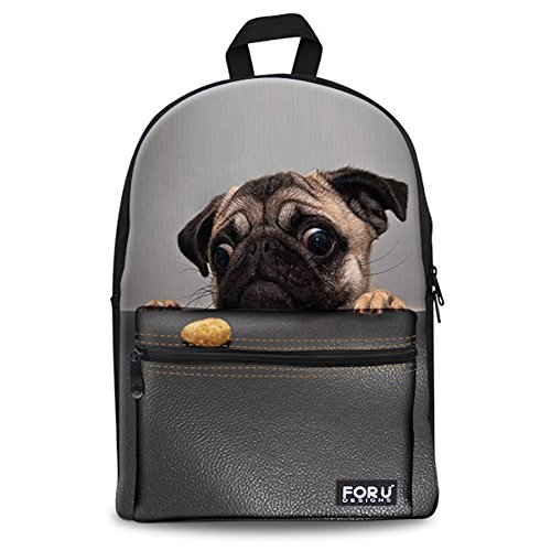 FOR U DESIGNS Fashion Hungry Puppy Style Durable Girls Boys Shool Backpack for Kids