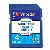 Verbatim 4GB Premium SDHC Memory Card, UHS-I Class 10 - 96171