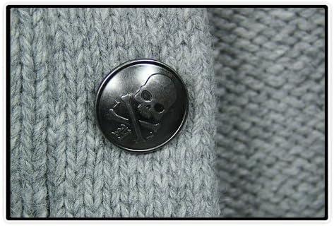 【ハイドロゲン】HYDROGEN メンズ ウール カーディガン カジュアル ドクロ スカル 長袖 ニット セーター [並行輸入品]