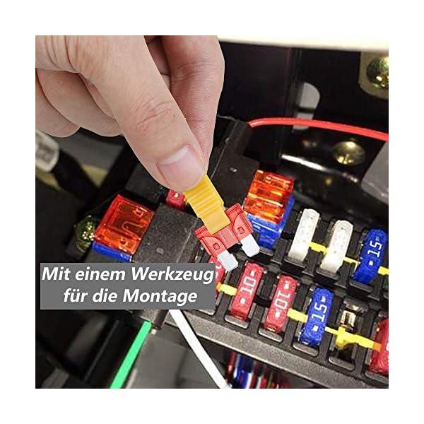 51JKLyi0KYL Rovtop 150 Stück Standard Auto Sicherungen KFZ Sicherungen Set maßgebend Autosicherungen 2A 3A 5A 7.5A 10A 15A 20A 25A…