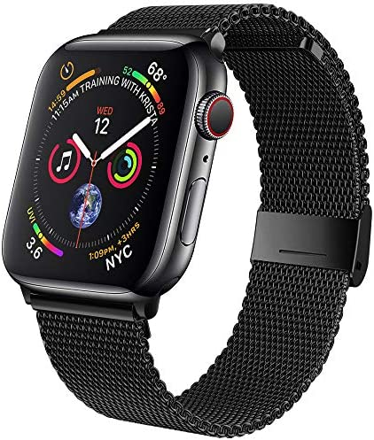 jwacct Compatible for Apple Watch Band 38mm 40mm 42mm 44mm, Adjustable Stainless Steel Mesh Wristband Sport Loop for iWatch Series 6/5/4/3/2/1, SE
