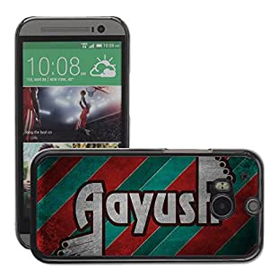 Hot Style Cell Phone PC Hard Case Cover // M00043923 style aayush typography retro // HTC One M8