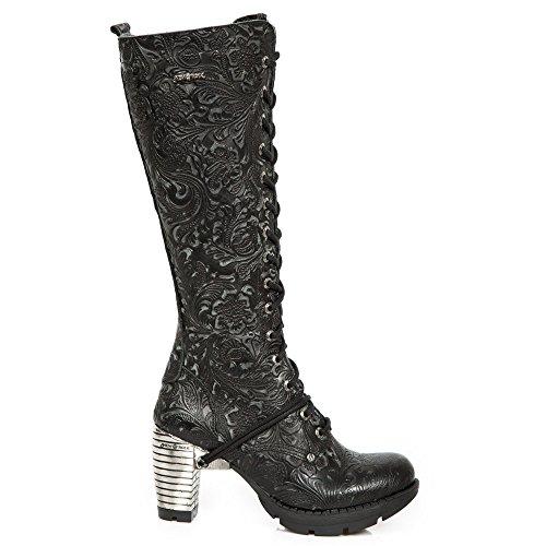 Nuova Roccia Fatta A Mano M Tr005 C2 Schwarz Damen Stiefel