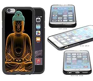 Buddha Statue In Orange Cyan Neon Rubber Silicone TPU Cell Phone Case Apple iPhone 6