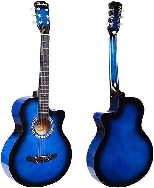 JJOnlineStore – Guitarra acústica de color azul, tamaño de 3/4, 97 ...