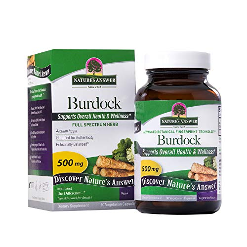 Nature's Answer Burdock Root, 90-Count Capsules Antioxidant Burdock Root