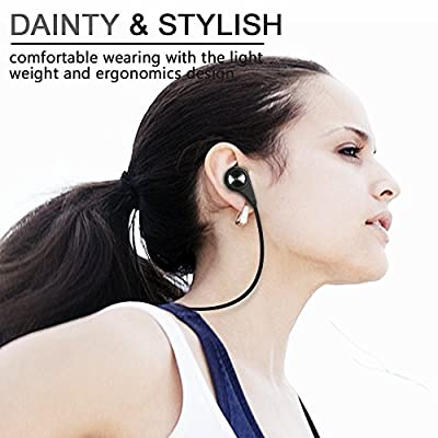 Bluetooth Headphones, HC Wireless Bluetooth Earbuds Headset Earphones Noise Cancelling,Running, Exercise,Hiking Sports;Sweatproof. Suitable for IOS & Android Devices