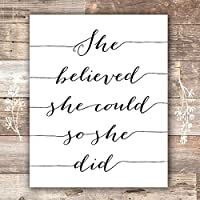 She Believed She Could So She Did Art Print - Unframed - 8x10