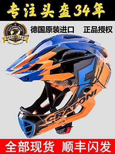 防護服に乗って車のヘルメットプロヘルメットチンガードをスライディング子供の完全なドイツcratoni Katuoニッケルバランス車   B07RXC6W5M