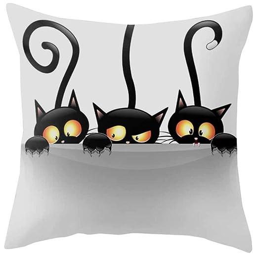 Fundas de cojín, sofá angelof gato Square Funda de almohada ...
