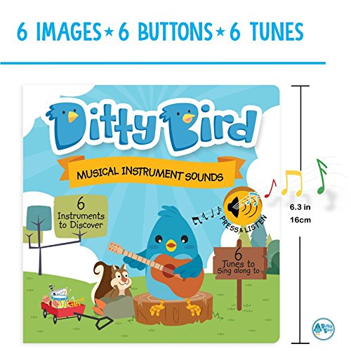 Ditty Bird Our Best Interactive Instrumental Music Book Babies. Educational Toys 1 Year Old. Toddler Musical Book to Learn Musical Instruments. Board Books 1 Year Old. 1 Year Old boy Girl Gifts. by Ditty Bird (Image #1)