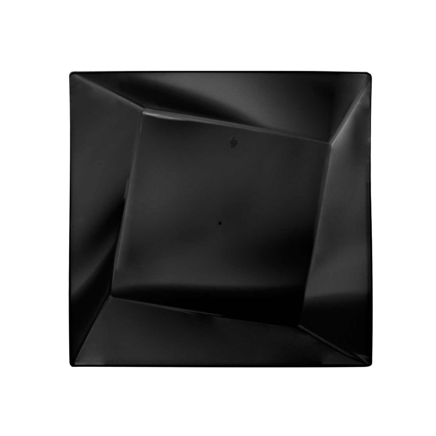 Party Essentials N952017 Hard Plastic Twist/Square Plates, 9.5'', Black (Pack of 160) by Party Essentials