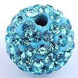 RUBYCA Pave Czech Crystal Disco Ball Clay Beads fit Shamballa Jewelry