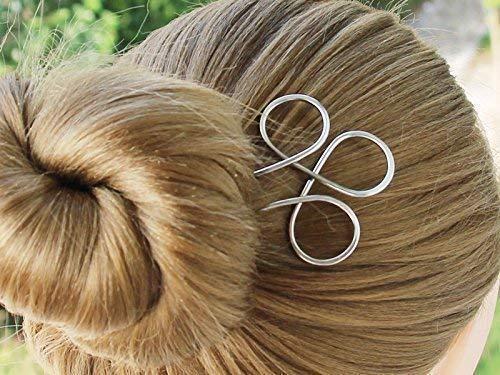 4d269eb9a Amazon.com: Celtic Silver Hair Fork Hair Pins Hair Stick Bun Holder Hair  Jewelry women gift: Handmade