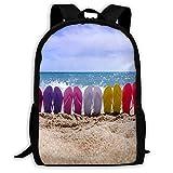 Backpack Beach Flip Flops Mens School Backpacks Unique Gift