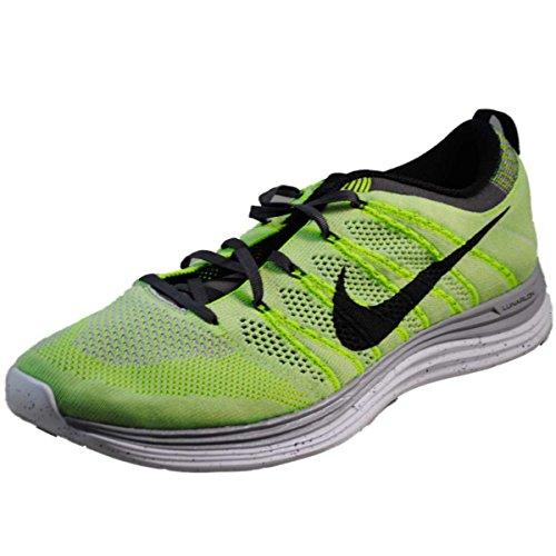 Nike Mens Flyknit En + Löparskor-elektriska Grön-11